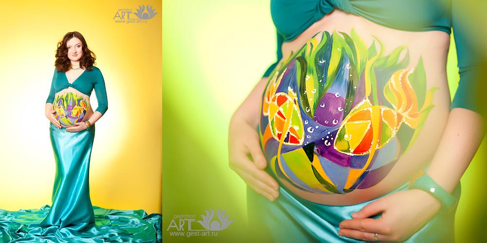 беременный боди-арт